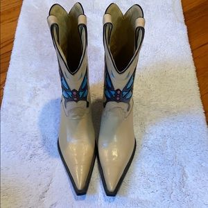 Je-ver Nude Butterfly Cowboy Boots sz 8.5